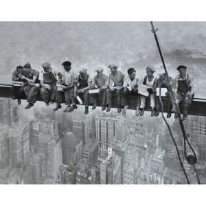 poster-new-york-lunch-manhattan-bouwvakkers